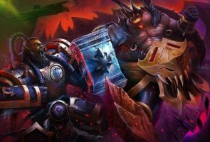 Heroes of the storm fight by angelcanohn