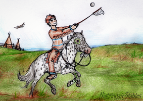 #003-D - Activity 5 - Mounted Lacrosse by NightingaleStables