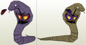 Arbok papercraft improved by javierini