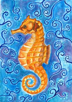 Seahorse painting by Magizoom