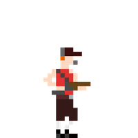 TF2 Stamp: 8bit scout by bazookatortise