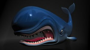 Cartoon whale 3D by 3DSud