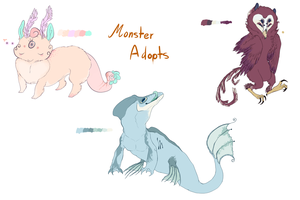 Monster Adopts by ChainsawTeaParty