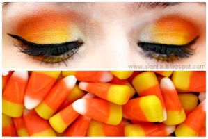 Candy Corn inspired Halloween Look by Alenija