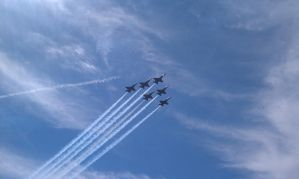 Blue Angles Flyover by TheBelfig