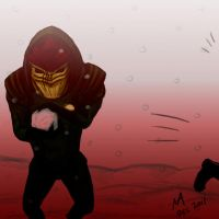Wrex Likes A Good Snowball Fight by scorcher