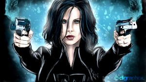Selene from Underworld by arhumn
