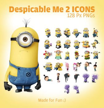 Despicable Me 2 Minion Icons PNGs by Designbolts