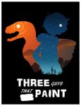 Three Guys That Paint - Silhouette Poster by Katy133
