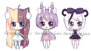 [Auction] Random adoptables 2 ~closed~ by Seraphy-chan