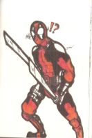 Classic Deadpool (Journal Doodle) by DannNights