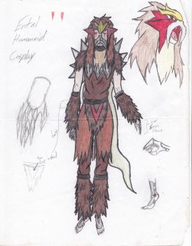 Entei Costume Concept ver.1 by Great-Guardian