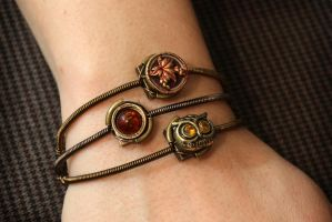 Steampunk Victorian - 3 Bracelets set by CatherinetteRings