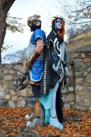 Link and Midna by J-ndrax