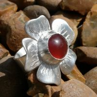 Tagetes Ring with Carnelian by Wabbit-t3h