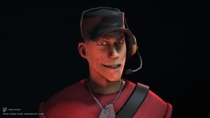 SFM Poster: Meet The Scout -Red- by PatrickJr