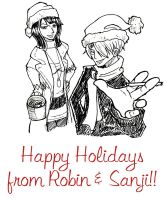 A Robin and Sanji Christmas by pirateneko