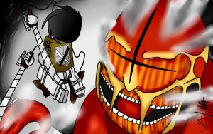 Attack on Titan Fan art ,Madness style (Collab) by clee3rd