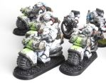 White Scars Space Marine Bikers by jstncloud