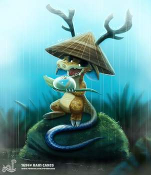 Daily Painting 1694# Rain Cakes by Cryptid-Creations