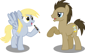 Doctor And Derpy by Vector-Brony