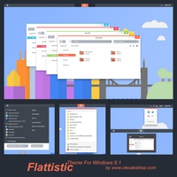 Flattastic Theme Windows 8.1(Updated) by Cleodesktop