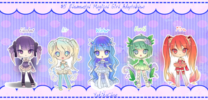 5 dollar magical girl adoptables [closed] by CaramelCaprice