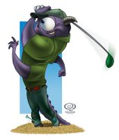 Pixar Monsters University - Jack Niclaws by KingOlie