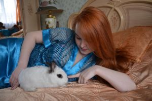 With rabbit 2 by Philosopher-Vinni