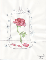 Beauty and the Beast Rose by rainofphyre