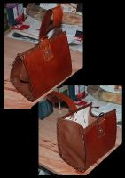 Leather Bag by funkydpression