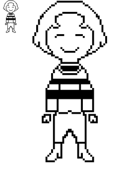 Custom Frisk sprite by BlissfulBOOM