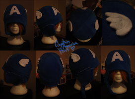 +FleeceHat:Custom+ Captain America. by Stephys-Adoptables