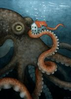Giant Octopus by MariSkullerud
