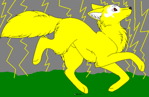 Wolf of electricity by Adoptablegirl