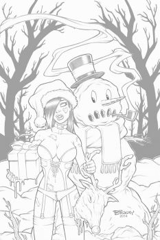 Zombie Tramp 5 Variant Cover Pencils by BillMcKay