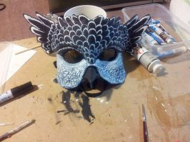 Owl masquerade Mask Finished 1 by firedrack