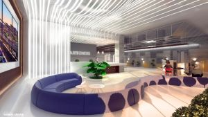 Highrise Building Offices Part Lobby by 1zmim