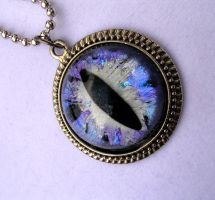 Silver Purple Violet Nebula Pendant - Lady Winter by LadyPirotessa