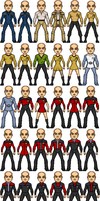 Star Trek MicroHero Templates by HenshinDaisuke