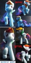 Rainbow Dash McDonald's Before/After by FelidaeSilvestris