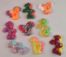 My Little Pony Petite Pendants by mermaid-splash