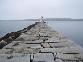 Rockland Breakwater Light by TheRedPlumBlossom
