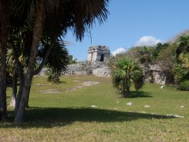 Tulum Ruins Watchtower by DreamsWithinMe