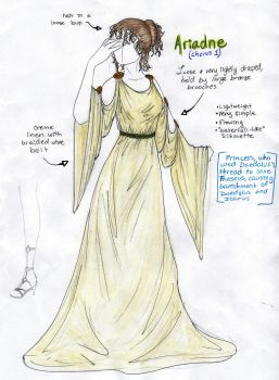 Costume Design Homework - Ariadne by jeevani