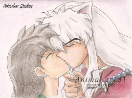 the kiss by Animaker131