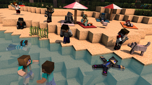 [Minecraft]Relaxing on the beach by natom96