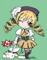 Collab: Mami and Kyubey by Alice13th