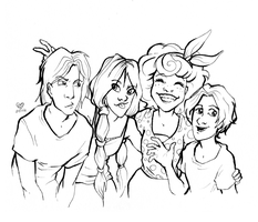 Cousins lineart by Annorelka