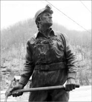Coal miner statue by PrincessTirfa